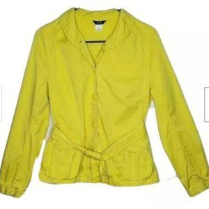 J. Crew Jacket 8 Yellow Casual Stretch Belted